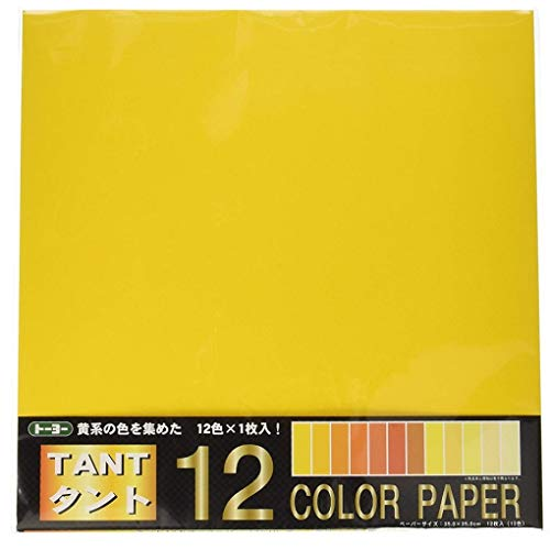 TOYO Tant12 Origami Color Paper 13.8inch square 12 sheets YELLOW [Import from Japan]