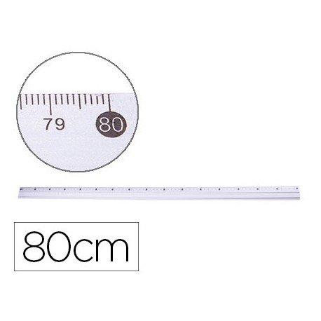 Q-Connect - Regla Metálica Aluminio 80 Cm