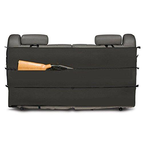 Decho-C Camo Rifle Gun Rack Estuche Organizador Rifle Holster Sling para la mayoría de camiones SUV camiones vehículo asiento trasero almacenamiento, negro