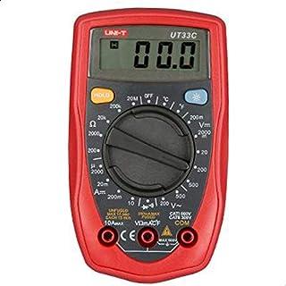 يوني-تي، جهاز قياس متعدد رقمي بحجم راحة اليد، اي سي/دي سي/اوم/فولت/دي ام ام، UT33C