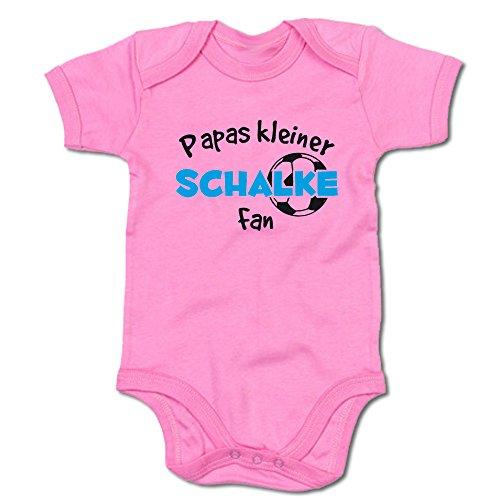 G-graphics Papas Kleiner Schalke Fan Baby-Body (250.0233) (0-3 Monate, pink)