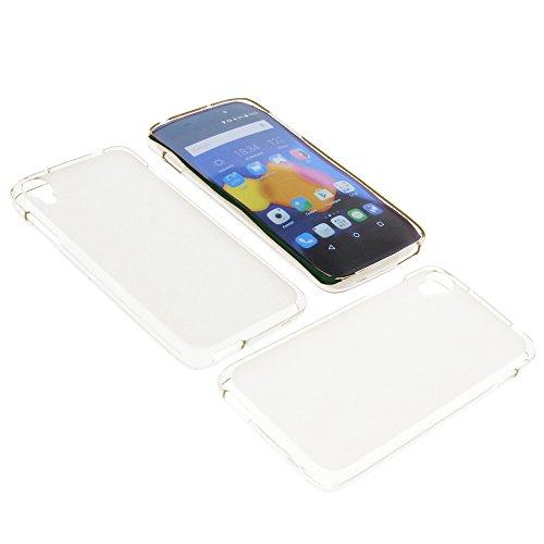 foto-kontor Tasche für Alcatel One Touch Idol 3 4.7 Gummi TPU Schutz Handytasche milchig transparent