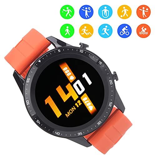 Qini Reloj Deportivo al Aire Libre, Pulsera para Uso Diario para Uso Profesional para Uso General para Deportes(Orange)