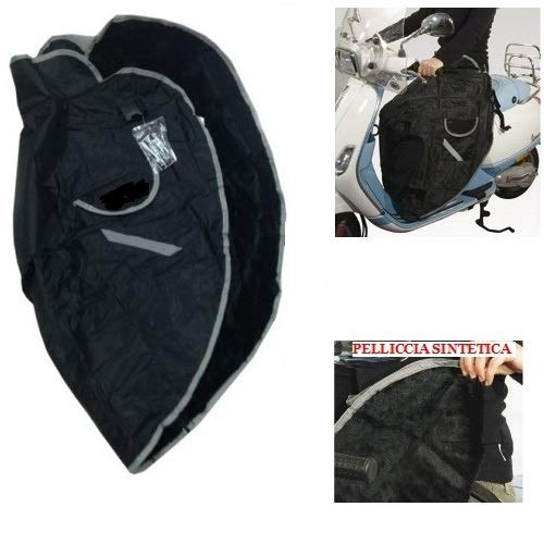 Voor Honda SH 50 CW beendeken, waterdicht, voor het dragen van poten voor scooter, universeel, thermoschort met synthetische bont
