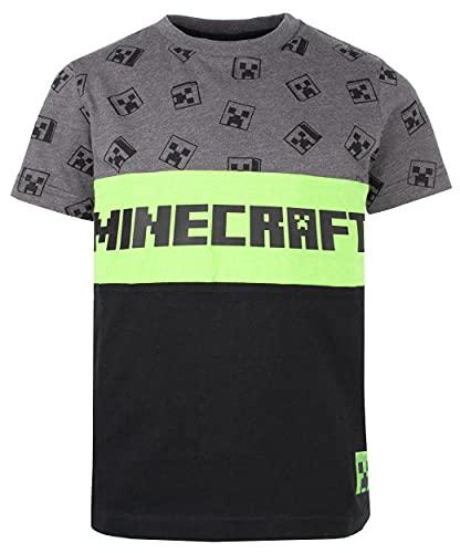 Minecraft - T-Shirt - Grau und Schwarz Creeper T-Shirt - 100% Baumwolle Kleidung - Kinder Kleidung - Jungen Kleidung - Geburtstag Junge Geschenke - Alter 5-6 Jahre