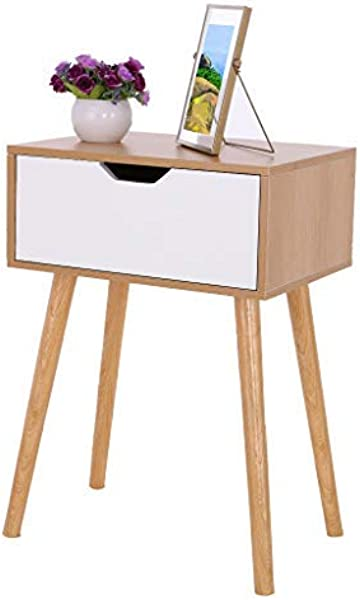 Maikouhai Assemble Storage Cabinet Bedroom Bedside Locker Nightstand End Table 1 Drawers 15 7x11 8x21 5in