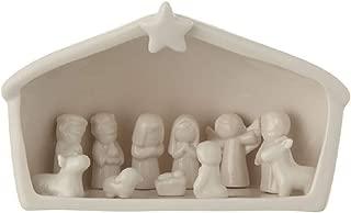 Creative Co-op Holy Family Birth of Jesus Ceramic 12-Piece Nativity Set