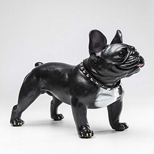 Kare Design Deko Figur Gangster Dog, Dekoration für alle Hundeliebhaber in schwarz und weiß, Großes Dekoobjekt, Dekofigur Hund (H/B/T) 40x50x24cm