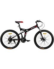 دراجة قابلة للطي من فتنس مينتس، اسود، FM-F26-04S-BK