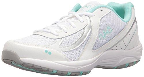 Ryka Women's Dash 3 Walking Shoe, White/Silver/Mint, 7.5 M US