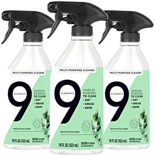 3-Pack 9 Elements All Purpose Cleaner 18 oz Bottles (Eucalyptus)