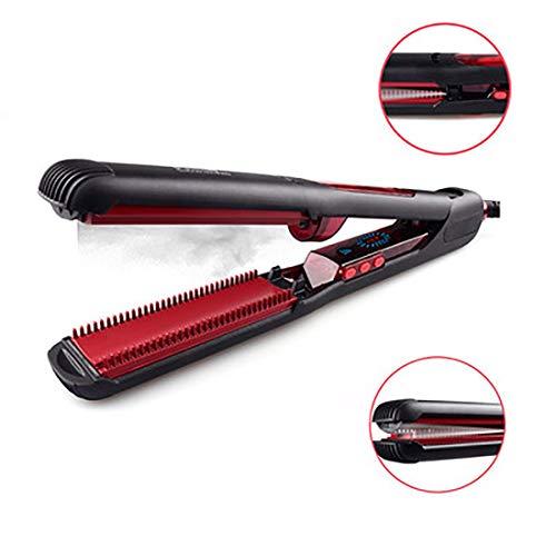 Cepillo de la plancha de pelo al vapor, peine alisador profesional con diseño de pantalla LCD, enderezadoras de pelo de temperatura ajustable 2, Adecuado para todos