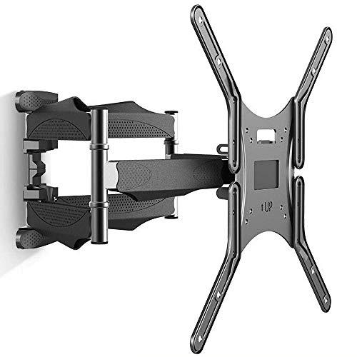 Soporte para TV, soporte de acero inoxidable para monitor independiente para la mayoría de televisores de 17 a 27 pulgadas, soporte de pared para TV de mesa de hasta 7 kg de altura inclinable ajustab