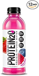 Protein2o Low Calorie Protein Infused Water, 15g Whey Protein Isolate, Mixed Berry (Pack of 12)
