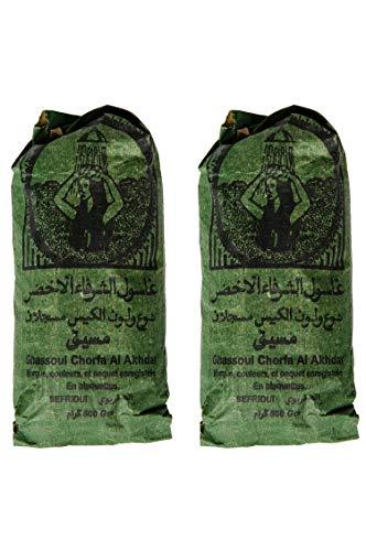 Ghassoul Lavaerde Granulat 1000g | Original Marokkanische Tonerde als Gesichtsmaske für Gesichtsreinigung im Beutel | Natürliches Peeling für Gesicht Haut und Haare | Wascherde als Körperpflege