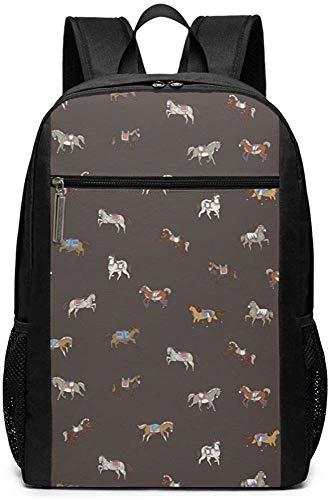 Alle Arten von Pferd Gra-ffiti Rucksäcke Schule Bookbag Umhängetasche Casual Daypack Laptop Tasche Alle Arten von Pferd Gra-ffiti