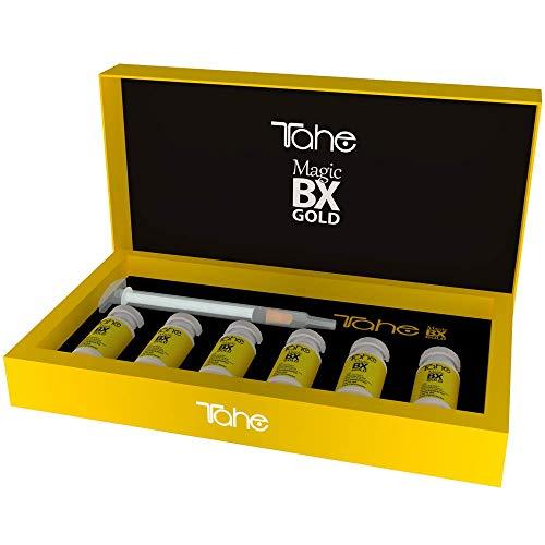 """Tahe -""""Magic BX Gold"""" - Traitement concentré pour cheveux, effet botox de longue durée avec or liquide et acide salicylique, 6 x 10 ml"""