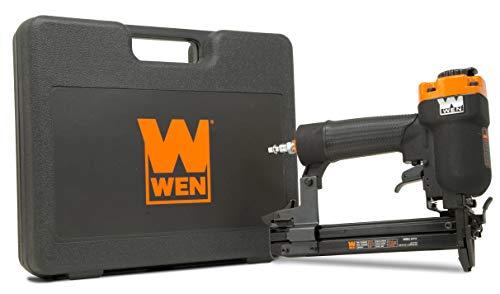 WEN 61711 18-Gauge 3/8-Inch to 1-Inch Air-Powered 1/4-Inch Narrow Crown Pneumatic Stapler