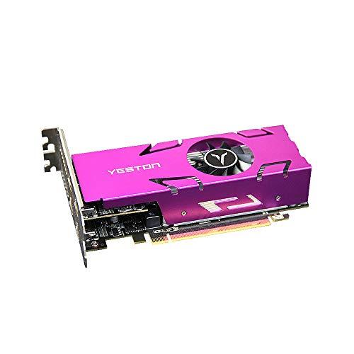 Docooler Yeston RX550-4G 4HDMI 4-Bildschirm-Grafikkarte unterstützt Split-Screen 4 GB Speicher / GDDR5 / 128Bit 6000 MHz VGA + HDMI + DVI-D-Grafikkarte