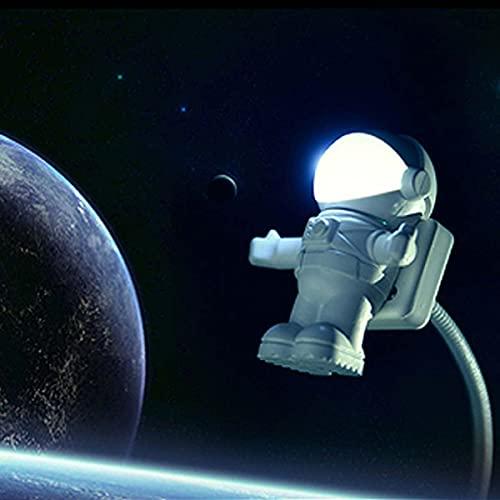 Pfedxoon Creativa luz nocturna astronaut Spaceman USB LED ajustable luz nocturna para ordenador PC