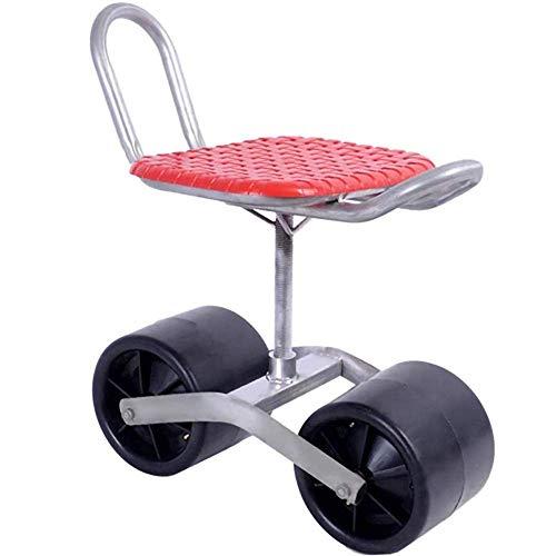 Mobiler Sammelwagen Im Gewächshaus, Gartenwagen Mit Zwei Rädern, Rutschfester 360 ° -Sitz, Höhenverstellbar,...