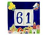 fd-bolletta arredamento e illuminazione Numeri civici in Ceramica con Numeri e Lettere da ...