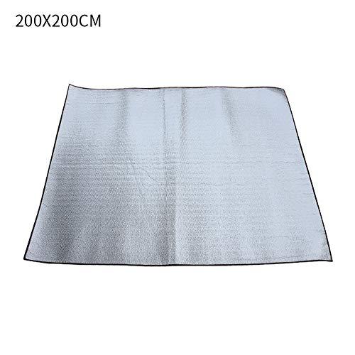 JuneJour Alu Isomatte Schaummatten Schlafmatte für Camping Isoliermatte Isolierdecke Faltbare Zeltmatte Bodenmatte Thermomatte Matte aus Aluminiumfolie, Ultraleicht