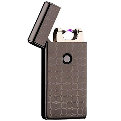 VAPORIDER USB Rechargeable Flameless Electronic Plasma Pulse Cigarette Metal Lighter in Gift Box - Single Arc (Black)