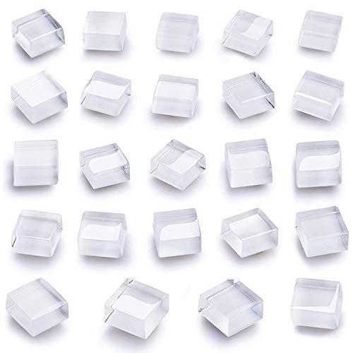 Mymazn Quadratische Kühlschrankmagnete Niedliche Kühlschrankmagnete Küchenmagnete Dekorative Büromagnete Fun Glasmagnete Whiteboard Trockenlöschbrett Magnete (24 Pack)