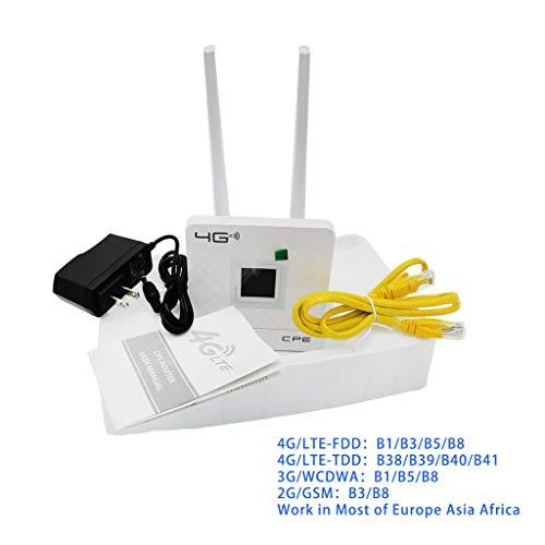 A9SW - Router inalámbrico CPE 4GWifi - Enrutador portátil FDD TDD LTE WCDMA GSM desbloqueo global antenas externas ranura tarjeta SIM puerto WAN LAN