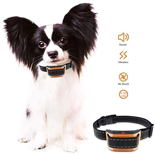 Furever Friendz Hundehalsband für Hunde, Anti-Schock, Vibration und automatisch, 7 Stufen, Schock-Modi, einfach zu bedienen, Orange