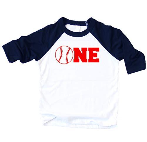 Baseball One Boys Birthday Shirt 1st Birthday Shirt Boys Blue Baseball T Shirt for Boys 1st Birthday Shirt, Blue, 12 Months