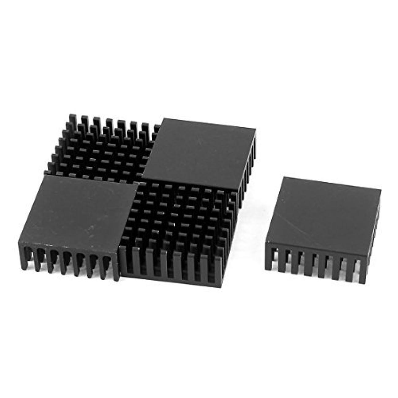 DealMux Aluminium CPU Radiator Heatsink Heat Sink 25mmx25mmx10mm 5 Pcs Black