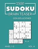 1500 Sudoku Brain Teaser 9x9 con soluciones Nivel 1-3 Vol. 6