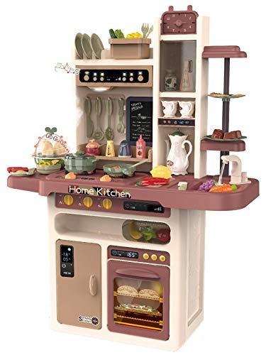 Kinderplay Cucina Giocattolo per Bambini - con Caratteristiche di Suoni, luci e Acqua, Cucina Giocattolo Include 65...
