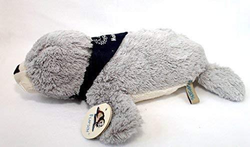 Unbekannt Seehund Robbe FLAPSCH superweiches Plüschtier mit Halstuch Moin Moin (26 cm, Grau)