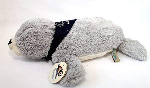 Unbekannt Seehund Robbe FLAPSCH superweiches Plüschtier mit Halstuch Moin Moin (37 cm, Grau)