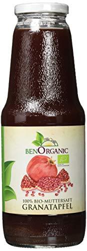 BenOrganic Bio Granatapfel Muttersaft, 6 x 1 Liter Granatapfelsaft Direktsaft