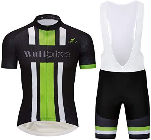 logas Rennrad Trikot mit Hose Herren Radsport-anzüge Kurzarm Fahrradtrikot Set Atmungsaktiv