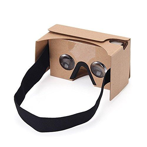 V2 3D VR Realtà Virtuale Occhiali 3D Virtua Google in Cartone per Android 3.5-6.0 pollici e iPhone Smartphone