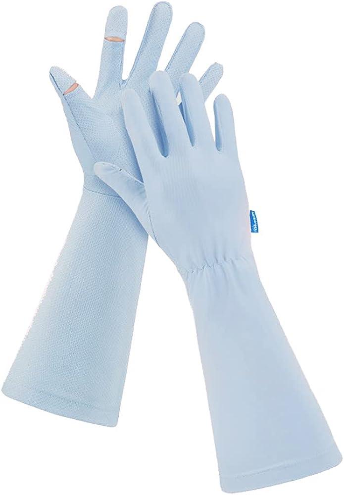 Women's UPF 50+ Summer UV Protection Long Sun Gloves