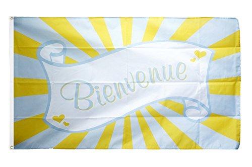 Digni Drapeau Bienvenue Banderole - 90 x 150 cm Sticker Gratuit