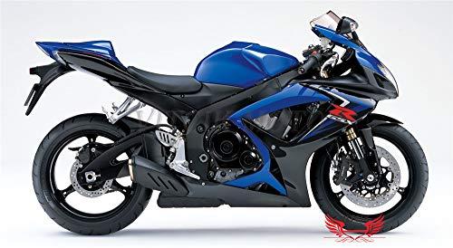VITCIK Calcomanías para Motos, Adhesivo para Moto GSX-R750 GSX-R600 K6 2006 2007 GSXR 600 750 K6 06 07 calcomanía para carenado (Azul)