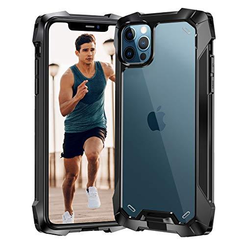 Beeasy Coque pour iPhone 12 Pro Max, Etui de Protection Antichoc avec Quatre Coins Renforcés,Anti-Choc Anti-Rayure Case pour iPhone 12 Pro Max 6.7'' 2020,Noir