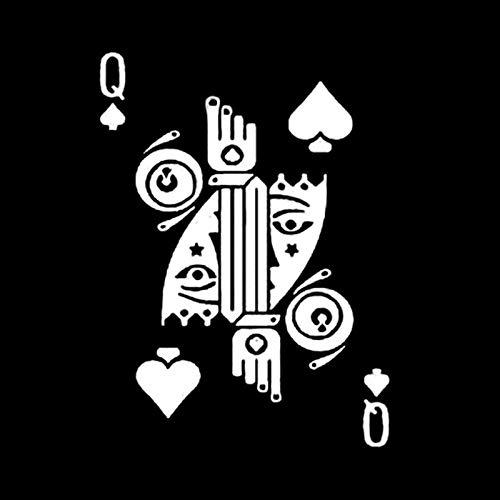 ZI Pegatinas de Coche 12,6 X 17,2 cm Pegatinas de Coche Divertidas Juego de Cartas gráficas Traje Decoración de póquer Vinilo