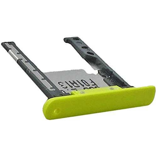 Nokia Lumia 1520 Original Speicher-Karten-Halter Gelb Speicherkarten Schubfach SD-Karte Schublade SD Tray