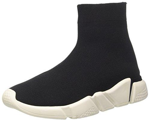 Jeffrey Campbell 6-Redman Weave Sock, Sneaker a Collo Alto Donna, Multicolore (Nero Bianco Sole 001), 36 EU