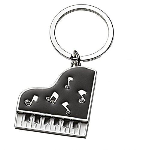 Ten Schwarzes Klavier Keychain cod.EL7917 cm 8x3,9x0,5h by Varotto & Co.
