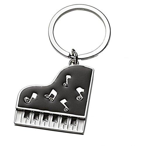 Ten Schwarzes Klavier Keychain cod.EL7917 cm 8x3,9x0,5h by Varotto & Co.