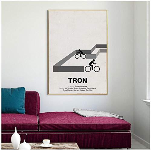 zhaoyangeng Limit Icons Tron Poster Leinwanddruck Wohnkultur Wandkunst Dekor Für Wohnzimmer Zu Hause / 50X70Cm Ungerahmt